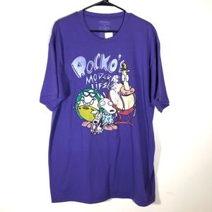 Nickelodeon Rocko's Modern Life Purple T-shirt XL